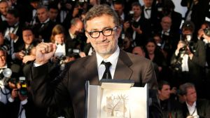 """Director Nuri Bilge Ceylan, Palme d'Or award winner for his film """"Winter Sleep"""", poses during a photocall at the closing ceremony of the 67th Cannes Film Festival in Cannes"""